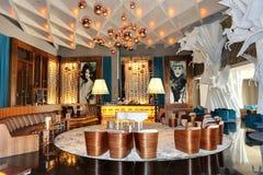 Maxx皇家豪华旅馆的休息室区域装饰 免版税库存图片