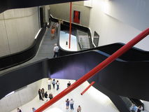 MAXXI, XX世纪现代艺术博物馆  库存图片