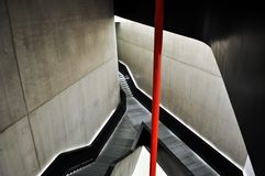 Maxxi, National Art Museum of XXI Century in Rome Stock Photos