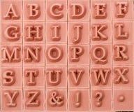 Mayúscula alfabético inglés, fondo fotos de archivo