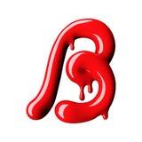 Mayúscula rojo brillante de la letra B representación 3d Fotografía de archivo libre de regalías