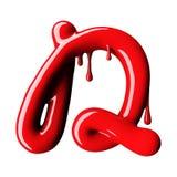 Mayúscula rojo brillante de la letra D representación 3d Imágenes de archivo libres de regalías
