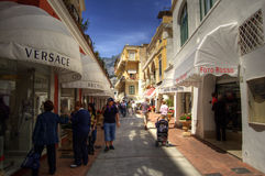 May 2008 - people make shopping in Capri, mediterr Stock Image