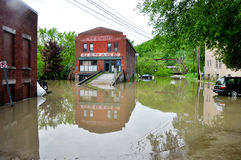 May 2011 flood in Montpelier, Vermont royalty free stock photos