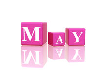 May in 3d cubes Royalty Free Stock Image
