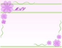 May. Flower theme background Royalty Free Stock Photography