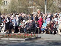 On May, 9th. Day of the Victory. Veterans. The city of Novouralsk. Sverdlovsk area Stock Image