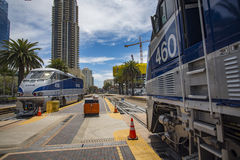 May 06, 2016: Amtrak #460 and Amtrak #456 royalty free stock photography