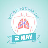 2 may  asthma day. Calendar for each day on may Royalty Free Stock Photo