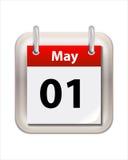 May att calendar Arkivbild