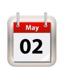 May att calendar Fotografering för Bildbyråer
