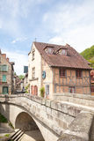 7 May 2015, Aubusson, Creuse, France Pont de la Terrade, and the Royalty Free Stock Photo