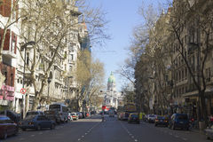 May Avenue in Buenos Aires. Royalty Free Stock Image