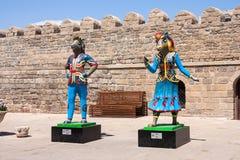 19 may 2017 Baku, Azerbaijan. Talisman IV Islamic solidarity games - Karabakh racehorses the Inje and Dzhasur. NMascots, Islamic solidarity games in Baku Park Stock Photo