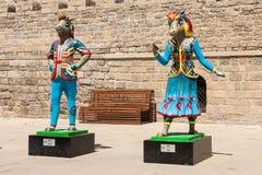 19 may 2017 Baku, Azerbaijan. Talisman IV Islamic solidarity games - Karabakh racehorses the Inje and Dzhasur. NMascots, Islamic solidarity games in Baku Park Royalty Free Stock Images