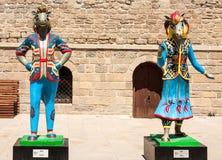 19 may 2017 Baku, Azerbaijan. Talisman IV Islamic solidarity games - Karabakh racehorses the Inje and Dzhasur. NMascots, Islamic solidarity games in Baku Park Stock Photography