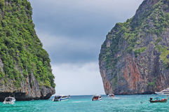 May Bay The Beach Thailand. Andaman Sea, the nature of Thailand, island paradise vacation in Thailand, a tropical landscape Stock Image