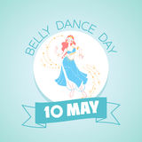 10 may Belly Dance Day. Calendar for each day on may 10. Greeting card. Holiday - Belly Dance Day. Icon in the linear style stock illustration