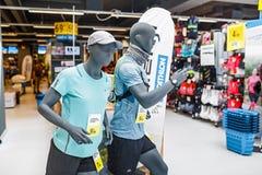 Mannequins in sport shop DECATHLON