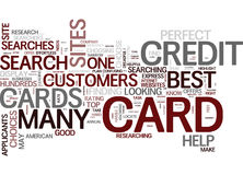 May The Best Credit Card Win Text Background  Word Cloud Concept Royalty Free Stock Photos
