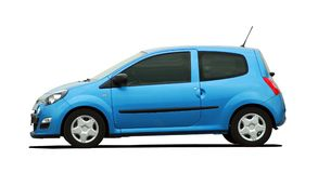 Mały błękitny samochód Obraz Royalty Free