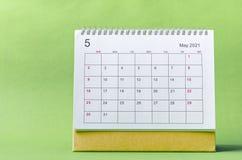 Free May Calendar 2021 Royalty Free Stock Photography - 214302777