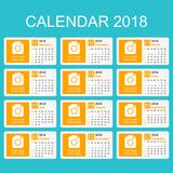 May 2018 calendar. Calendar planner design template. Week starts. On Sunday. Business vector illustration Royalty Free Stock Photo
