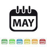 May Calendar Icon - Colorful Vector symbol. Isolated On White Background vector illustration