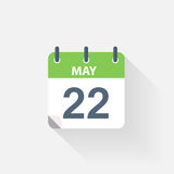 22 may calendar icon. On grey background vector illustration