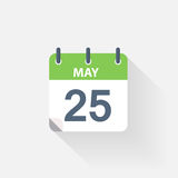 25 may calendar icon. On grey background Stock Photo