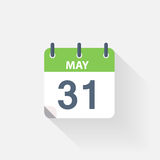 31 may calendar icon. On grey background royalty free illustration