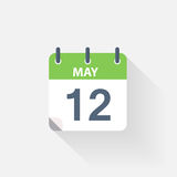 12 may calendar icon. On grey background vector illustration