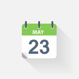 23 may calendar icon. On grey background stock illustration