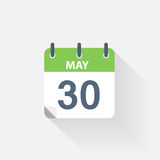 30 may calendar icon. On grey background royalty free illustration