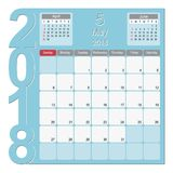 May 2018 Calendar Planner Design. 2018 Calendar Planner Design, May 2018 year vector calendar design Stock Image