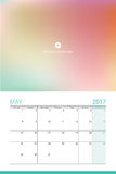 May 2017 calendar. With space for your picture Royalty Free Stock Images