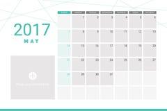 May 2017 calendar Royalty Free Stock Photography
