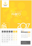 May 2017. Calendar 2017. May 2017. Calendar for 2017 Year. 2 Months on Page. Vector Design. Template with Place for Photo and Company Logo Royalty Free Stock Image