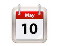 May Calender. Isolated on white stock illustration