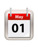 May Calender. Isolated on white royalty free illustration