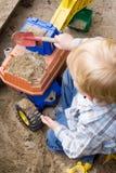mały chłopiec grać Obraz Royalty Free