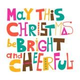 May this Christmas be bright and cheerful Royalty Free Stock Photos