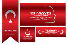 May 19 Commemoration and Youth and Sports Day. Which is celebrated every year on May 19, the Republic of Turkey and the Turkish Republic of Northern Cyprus is a Royalty Free Stock Photography