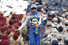 NASCAR: May 27 Coca-Cola 600. May 27, 2018 - Concord, North Carolina, USA: Chase Elliott 9 gets introduced for the Coca-Cola 600 at Charlotte Motor Speedway in stock photo