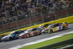 NASCAR: May 19 Monster Energy All-Star Race. May 19, 2018 - Concord, North Carolina, USA: Chase Elliott 9 races down the front stretch for the Monster Energy All royalty free stock photos