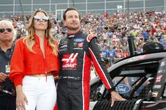 NASCAR: May 27 Coca-Cola 600. May 27, 2018 - Concord, North Carolina, USA: Kurt Busch 41 hangs out on the grid before racing in the Coca-Cola 600 at Charlotte stock images