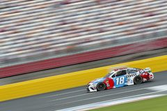 NASCAR: May 24 Coca-Cola 600. May 24, 2018 - Concord, North Carolina, USA: Kyle Busch 18 brings his race car down the front stretch during qualifying for the royalty free stock photography