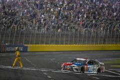 NASCAR: May 27 Coca-Cola 600. May 27, 2018 - Concord, North Carolina, USA: Kyle Busch 18 wins the Coca-Cola 600 at Charlotte Motor Speedway in Concord, North royalty free stock photos