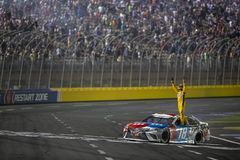 NASCAR: May 27 Coca-Cola 600. May 27, 2018 - Concord, North Carolina, USA: Kyle Busch 18 wins the Coca-Cola 600 at Charlotte Motor Speedway in Concord, North stock photos