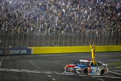 NASCAR: May 27 Coca-Cola 600. May 27, 2018 - Concord, North Carolina, USA: Kyle Busch 18 wins the Coca-Cola 600 at Charlotte Motor Speedway in Concord, North stock photo